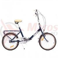 Bicicleta Pegas Practic Retro aluminiu albastru calator