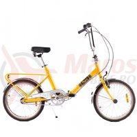 Bicicleta Pegas Practic Retro aluminiu galben bondar