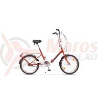 Bicicleta Pegas Practic Retro portocaliu nefiltrat