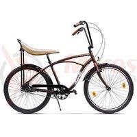Bicicleta Pegas Strada 1 aluminiu 3S visiniu cochet