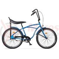 Bicicleta Pegas Strada 1 otel 2S albastru franghii