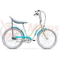 Bicicleta Pegas Strada 2 aluminiu 3S crem inghetata