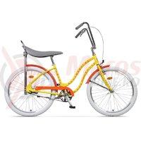 Bicicleta Pegas Strada 2 2S otel galben flori