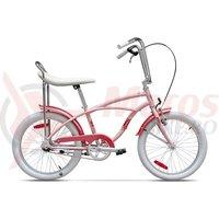 Bicicleta Pegas Strada Mini 1 viteza roz piersica 2017