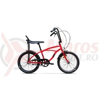Bicicleta Pegas Strada Mini 1 viteza rosu bomboana 2017