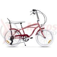 Bicicleta Pegas Strada Mini 7 viteze roz piersica 2017