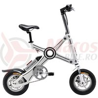 Bicicleta pliabila electrica Devron Folding X3 alba