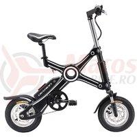 Bicicleta pliabila electrica Devron Folding X3 neagra