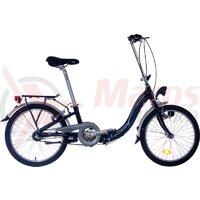 Bicicleta pliabila Neuzer Nexus 3 - 20' Negru/Alb-Albastru
