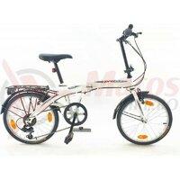 Bicicleta pliabila Sprint Probike Folding 20 6v alb