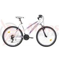Bicicleta Robike Cougar Lady 26 alb/negru/violet 2017