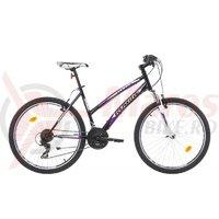 Bicicleta Robike Cougar Lady 26 negru/alb/violet 2017