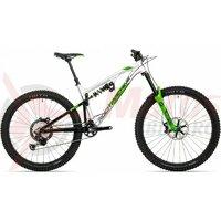Bicicleta Rock Machine Blizzard 90-27 RZ DVO 27.5, argintiu/negru/verde