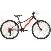 Bicicleta Rock Machine Catherine 24 VB 24 Visiniu/Portocaliu 12