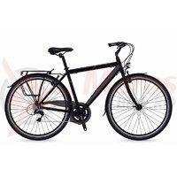 Bicicleta Shockblaze Lucky 6v Man negru mat 2018