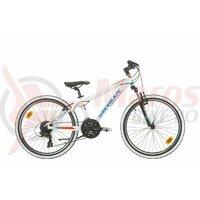 Bicicleta Shockblaze Warrior 24 Alb