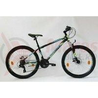 Bicicleta Sprint Active DD 26 2021 furca suspensie, turqoize matt/neon green