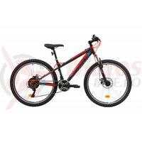 Bicicleta Sprint Active DD 26 negru/rosu mat 2019