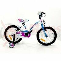 Bicicleta Sprint Alice 16 1SP 2021, alb lucios/albastru