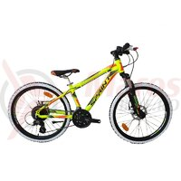 Bicicleta Sprint Apolon Pro 24 Verde Neon 2020 - 340 mm