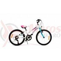 Bicicleta Sprint Calypso 20 6SP 2021, alb mat