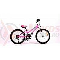 Bicicleta Sprint Calypso 20' 6v roz neon lucios 2020