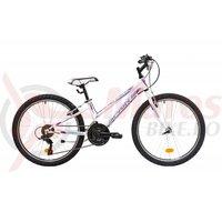 Bicicleta Sprint Calypso 24 alb lucios 2019