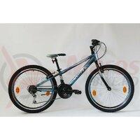 Bicicleta Sprint Casper 24 2021 furca rigida, negru mat/albastru - 280 mm