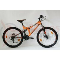 Bicicleta Sprint Element DB 26 2021 portocaliu neon/negru mat
