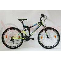 Bicicleta Sprint Element VB 26 2021 Negru/Verde Neon Mat