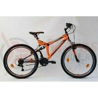 Bicicleta Sprint Element VB 26 2021 portocaliu neon/negru mat