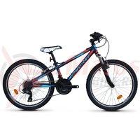 Bicicleta Sprint Hat Trick 24 albastru/rosu mat 2019