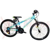 Bicicleta Sprint Hat Trick 24 Verde neon Mat 2021