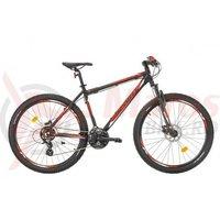 Bicicleta Sprint Maverick 27.5x17 HDB negru mat/rosu 2017