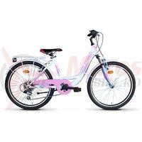 Bicicleta Sprint Starlet 24 alb Lucios 2020