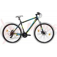 Bicicleta Sprint Tornado DD 29 negru/verde mat 2019