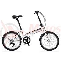 Bicicleta Sprint Traffic 20 alb/negru/rosu