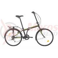 Bicicleta Sprint Urban 24 Pliabila negru/verde mat 2019