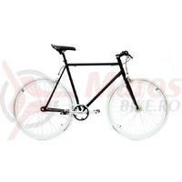 Bicicleta SXT SSP/Fixie negru/alb