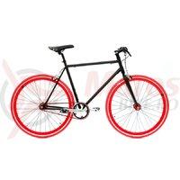 Bicicleta SXT SSP/Fixie negru/rosu