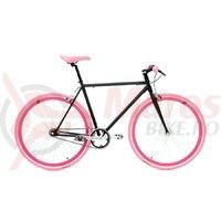 Bicicleta SXT SSP/Fixie negru/roz