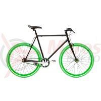 Bicicleta SXT SSP/Fixie negru/verde