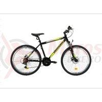 Bicicleta Venture 2621 negru/galben 2019