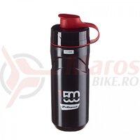Bidon Apa Polisport Thermal T500, negru-rosu, 500ml