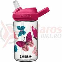 Bidon Camelbak Eddy+ Kids 400 ml, colorblock butterflies