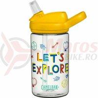 Bidon Camelbak Eddy+ Kids 400 ml, lets explore