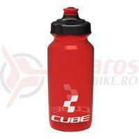 Bidon Cube Icon rosu semi-transparent 500 ml