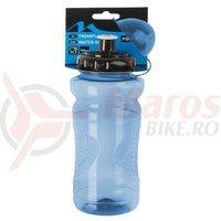 Bidon Mighty plastic 650-700 ml albastru transparent