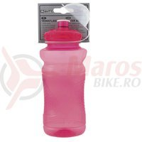 Bidon Mighty plastic 650-700 ml rosu transparent