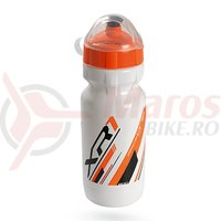 Bidon RaceOne XR1 600ml alb/negru/portocaliu